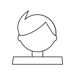 Man cartoon profile