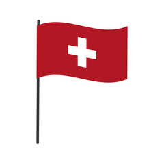 flag of switzerland accurate dimensions element proportions vector illustration