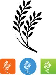 Rice Grain Icon - Illustration