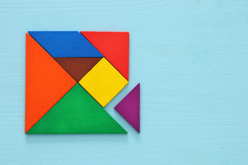 image of retro tangram puzzle