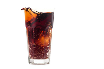 Cola glass with bubble