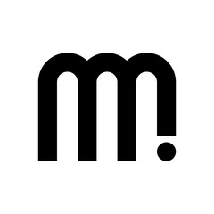 letter M and I logo vector.