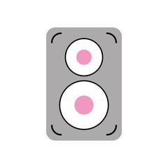 speaker audio isolated icon vector illustration design