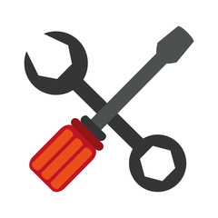 wrench and screwdriver tools icon image vector illustration design