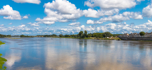 view on the loire river france
