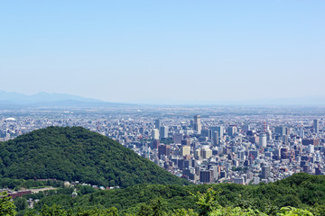 幌見峠からの札幌市街 / View of Sapporo city seen from Horomi Pass