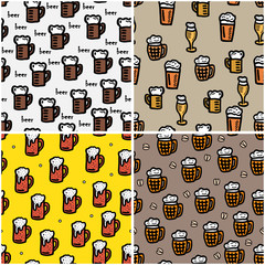beer seamless background for design