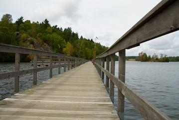 Bridge on a lake in west Sweden