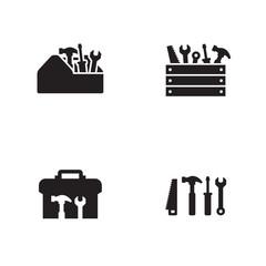 Toolbox icons set.