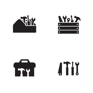 Toolbox icons set.