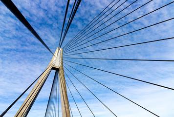 Anzac bridge abstract geometric pylon and cables