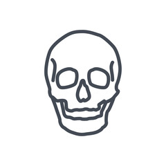 Bones line icon human skull