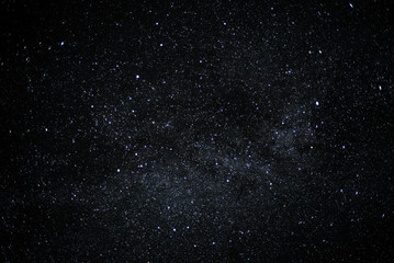 Night sky full of stars, cloudless background