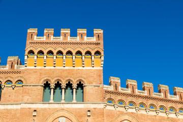 Palazzo Aldobrandeschi in Piazza Dante in Grosseto, Italy
