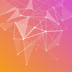 Abstract colorful geometric low poly background
