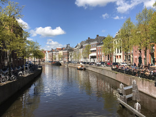A canal with typical Dutch architecture