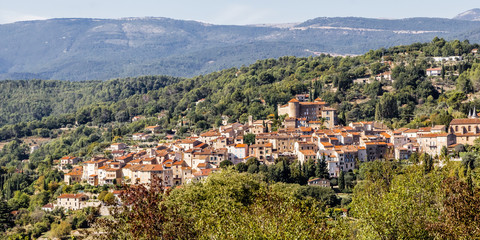 Typical village of the provencal hinterland