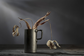 Still Life with withered Flowers