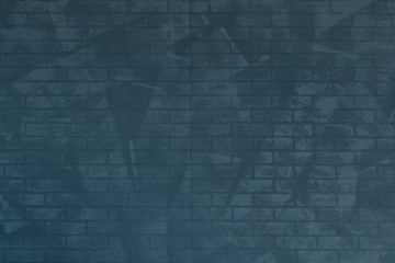 background of blue toned brick wall texture