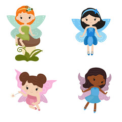 Collection of beautiful fairies.