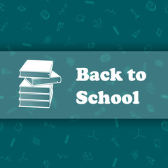 Vector design template for Back to school.