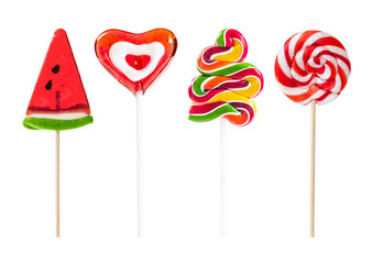 Wall Mural - Set of colorful lollipops