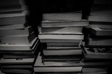 montaña de libros