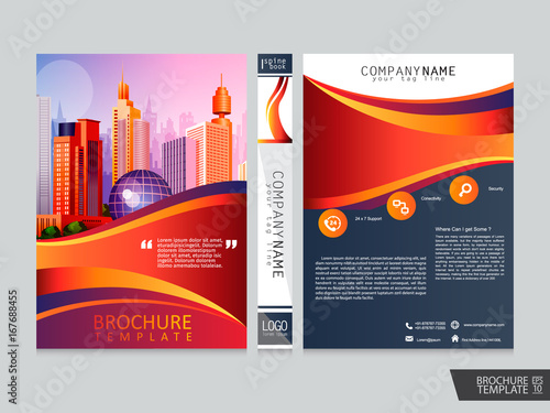 Abstract Brochure Template Portfolio Layout Backgroundver Book