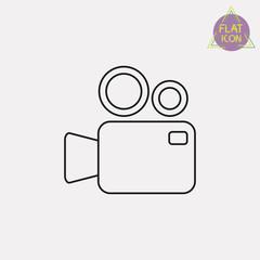 video camera linear icon