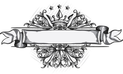 Vintage monochrome decorative emblem