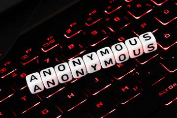 Anonymous symbol on keyboard