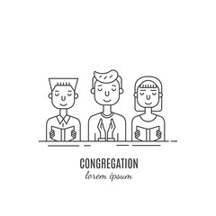 Congregation line icon