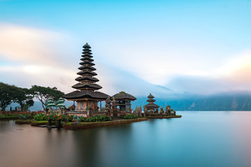 Ulun Danu Beratan Temple is a famous  landmark located on the western side of the Beratan Lake , Bali ,Indonesia.