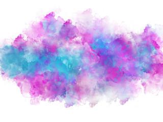 Artistic vivid watercolor splash effect template