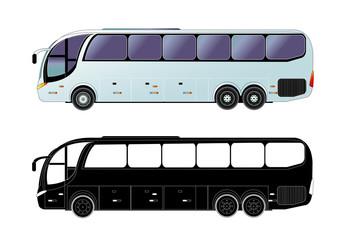 Tour bus, vector illustration.