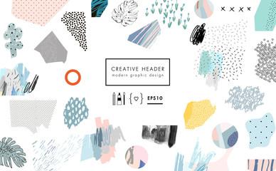 Creative header Fototapete