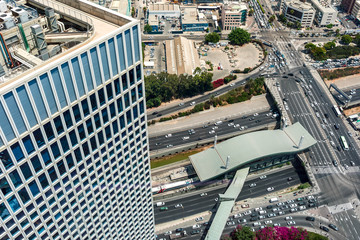 Streets of Tel Aviv from above.
