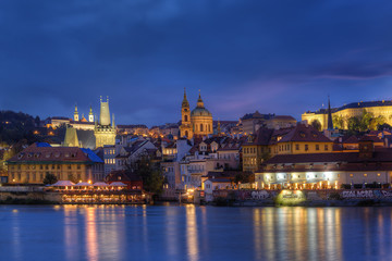 Night view of the Old Town in Prague, Czech Republic