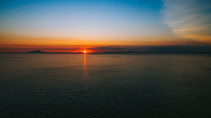Volcano violet sunset