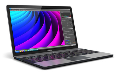 Laptop with photo editor software
