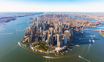 Aerial view of lower Manhattan New York City Fototapete