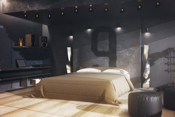 Male bedroom, Living concept