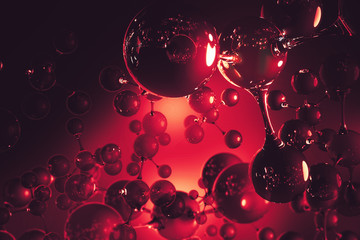 Red bubble backdrop