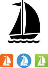 Sailboat Icon - Illustration