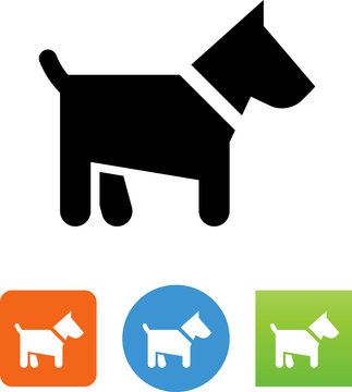 Scottie Dog Icon - Illustration