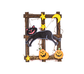 A cheerful frame for halloween