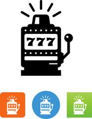 Slot Machine Icon - Illustration