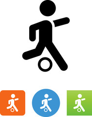 Soccer Shot Icon - Illustration