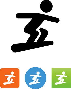 Snowboarder Icon - Illustration