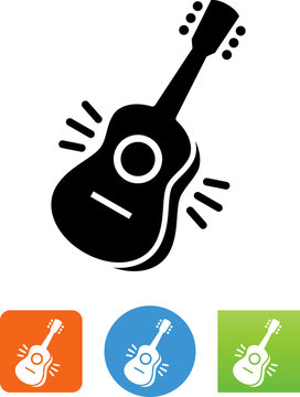 Spanish Guitar Icon - Illustration